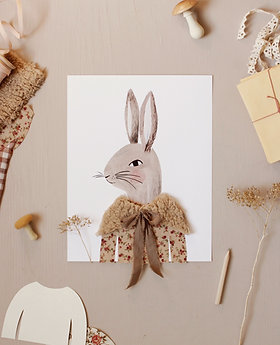 Dress Up Mrs. and Mr. Rabbit Printable