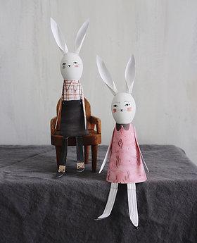 Egg Head Bunny Friends Printable