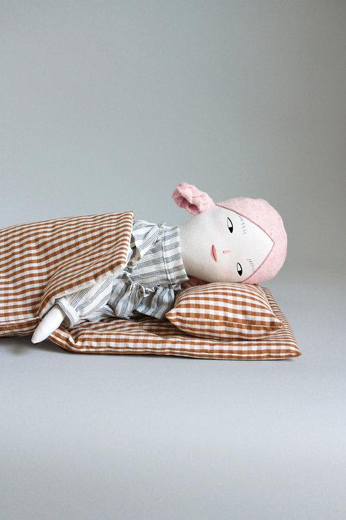 Gingham Doll Sleeping Bag - Midi size
