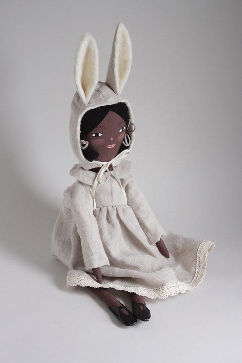 Lexi - midi size doll with bunny hood