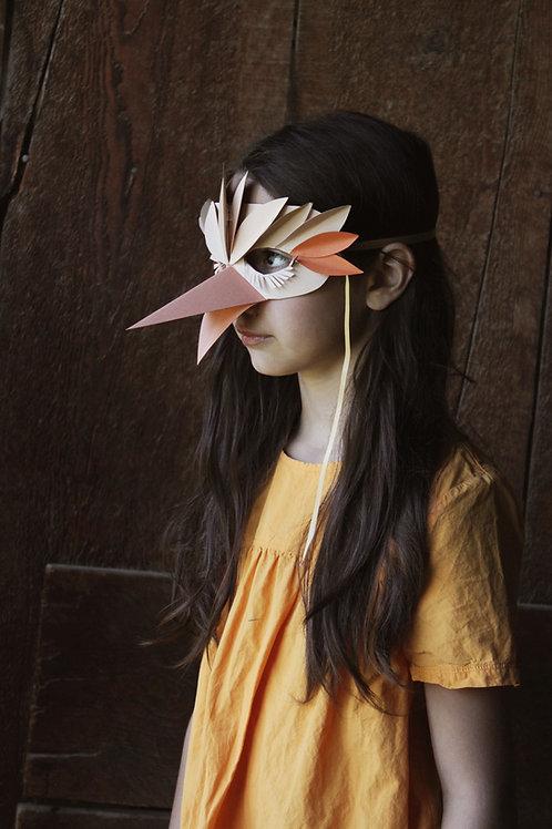 Paper Bird Mask Template