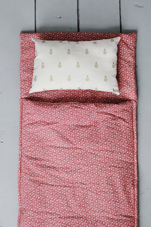 Doll Sleeping bag in Mauve Ditsy Floral
