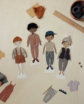 Decorate a Friend: Printable Paper Doll Boys