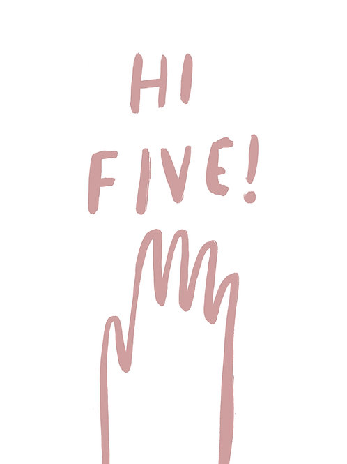 Hi Five! art print