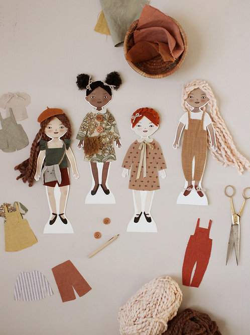 Decorate a Friend: Printable Paper Doll Girls