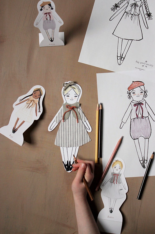 Tiny Poet Society Doll Printables