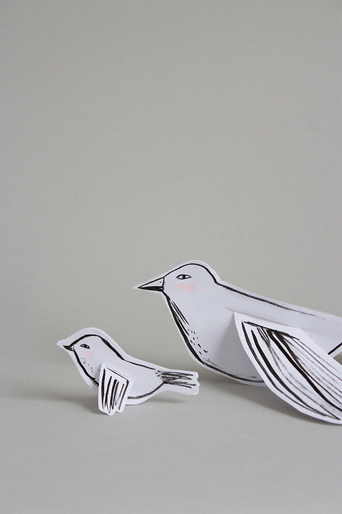 Printable Mamma Bird and Baby Bird craft