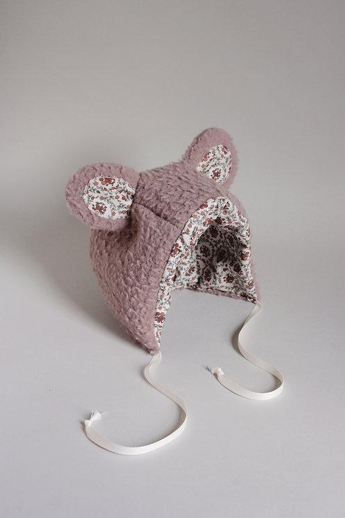 Child Size Bear Bonnet in Dusty Lavender