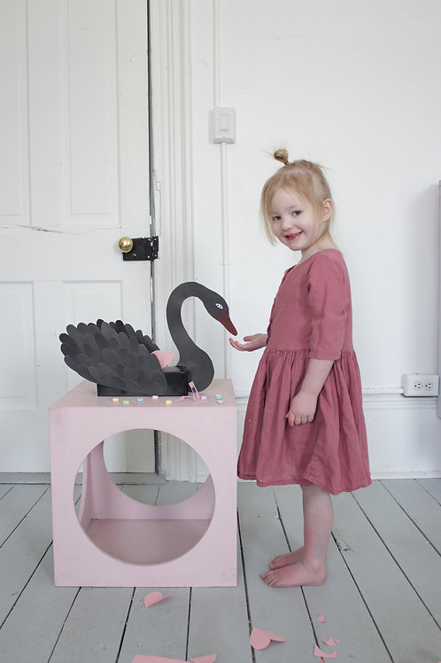 Small Swan Box Template