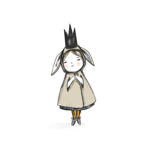 Girl in a Bunny Cloak art print