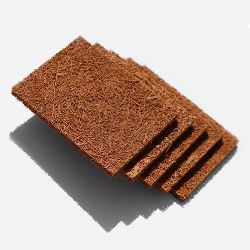 Coconut dish (or anywhere) scourer - pack of 5