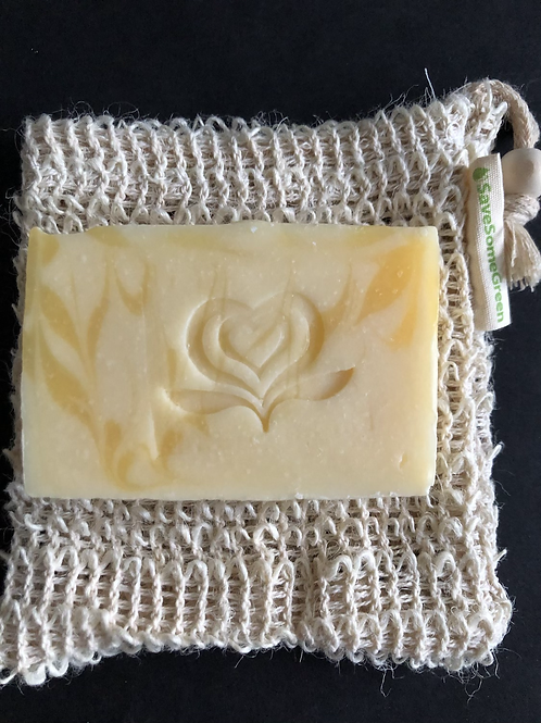Hand made Soap & Exfoliate: Soap and Pouch