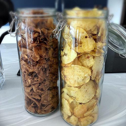 Just Crisps: thick cut sea salt OR parsnip with black pepper & sea salt (150g)