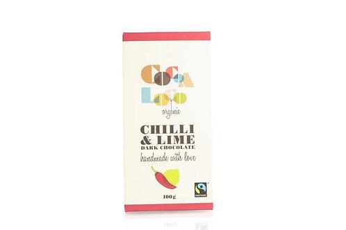Cocoa Loco Chilli & Lime Dark Chocolate Bar (100g)