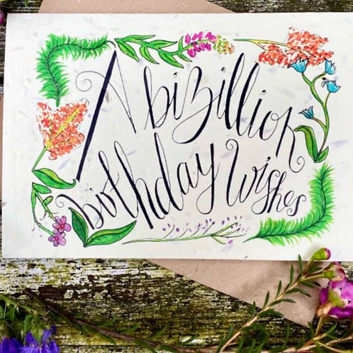 Plantable Birthday Card
