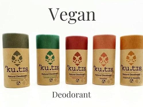 Kutis Vegan Deodorant in a cardboard tube
