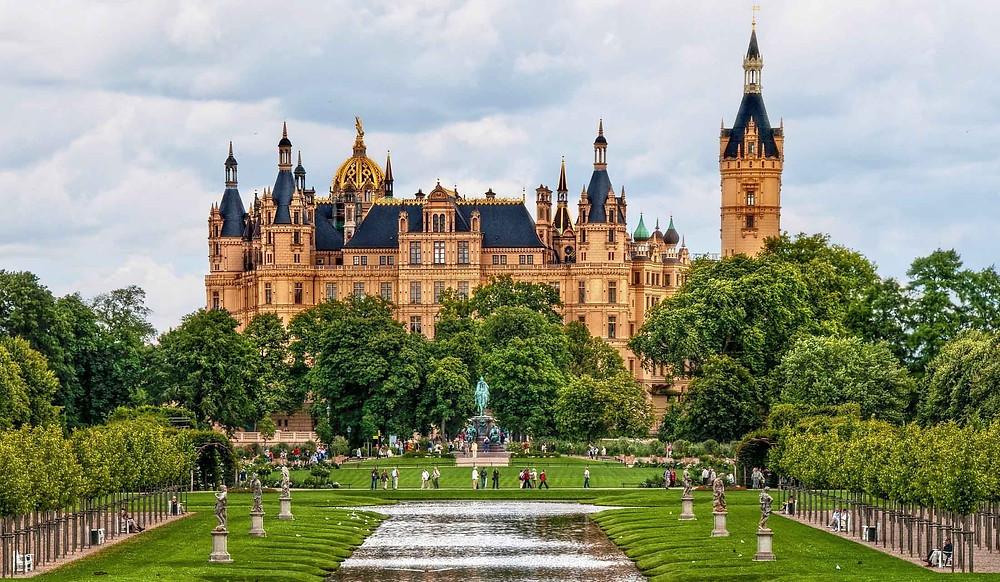 Castle Schwerin Garden View