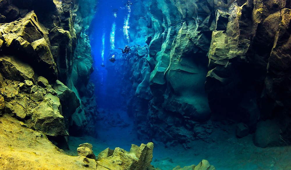 Silfra Fissure diving between two continents