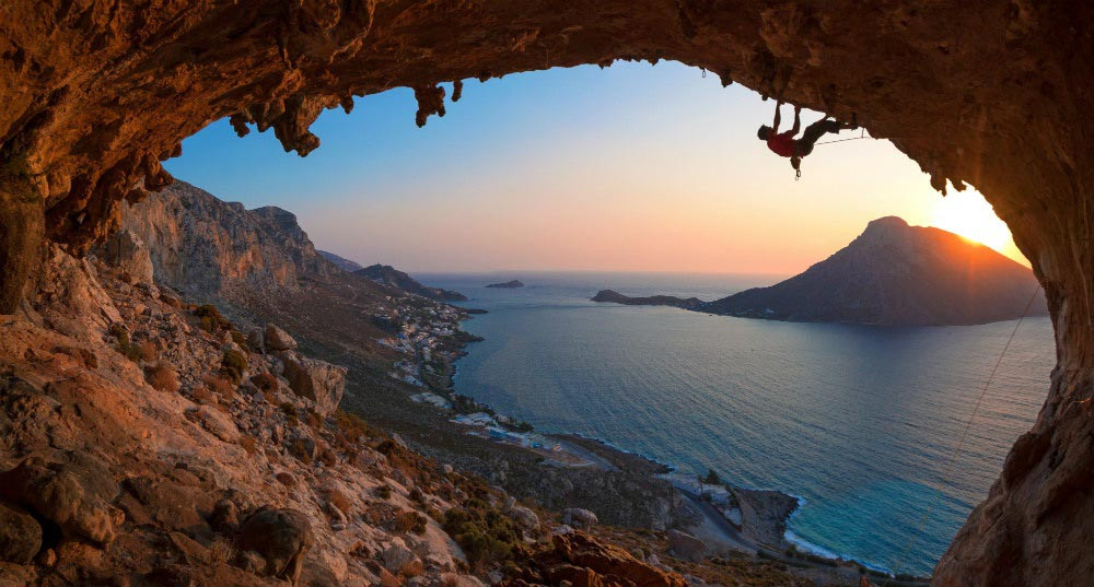 Rock climbing in Kalymnos