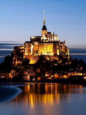 Mont Saint-Michel an ancient Abbey on an island in Normandy