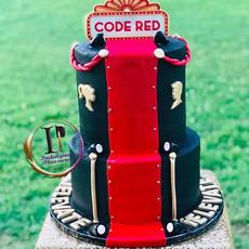 This cake was so fun to make! Red carpet