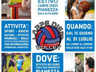 Centro estivo in totale sicurezza organizzato dal Pianezza Volley Carpe Diem