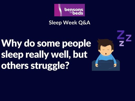 Why do some people struggle with sleep, while others sleep well?