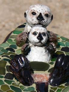 Otter table (detail)