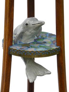 Dolphin table (detail)