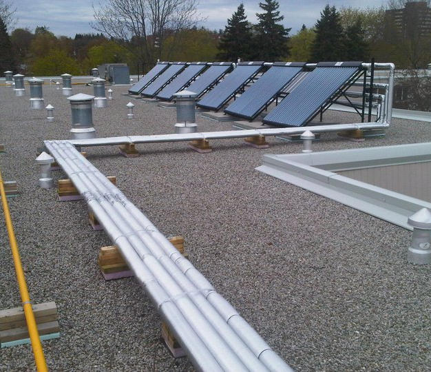 Solar thermal Installatio by North Ameri