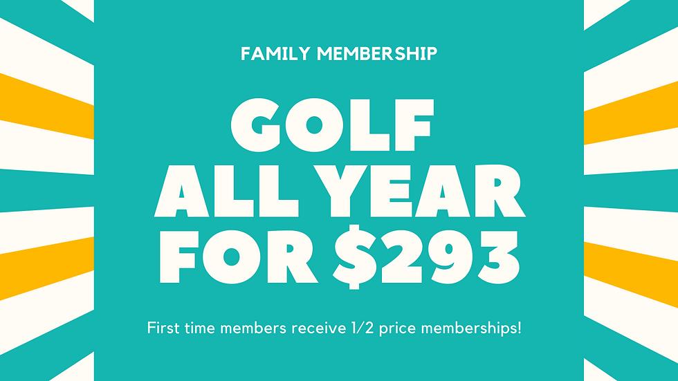 1/2 Price Family Membership