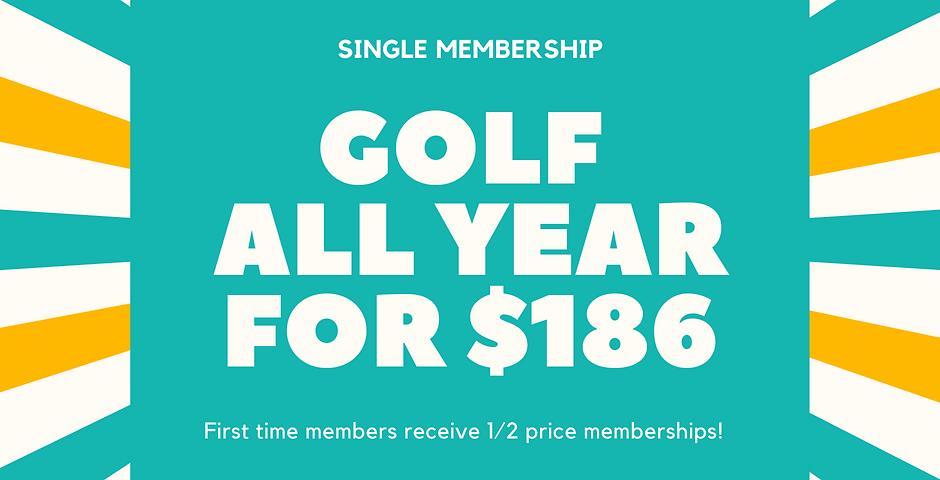 1/2 Price Single Membership