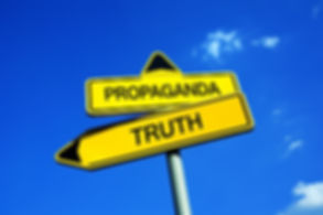 Propaganda or Truth - Traffic sign with