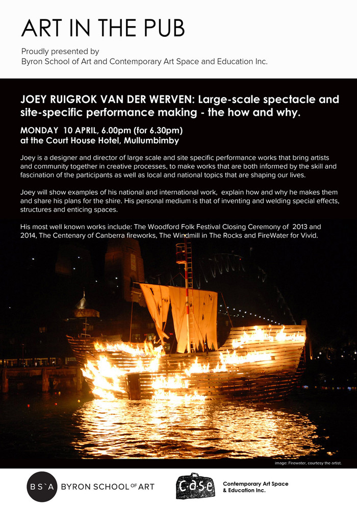 Art in the Pub - Joey Ruigrok van der Werven Monday 10th April 6pm for a 6.30pm Start