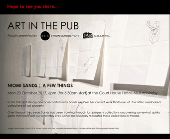 Art in the Pub - Niomi Sands  Monday 23rd October 6pm for a 6.30pm Start