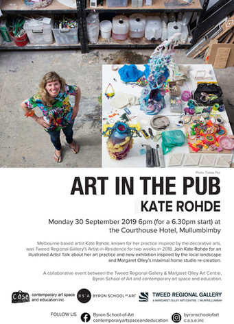 Art in the Pub - Kate Rohde       Monday 30th September 2019