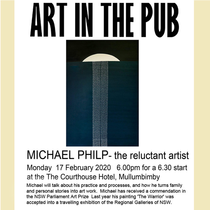 Art in the Pub - Michael Philp Monday  17 February 2020