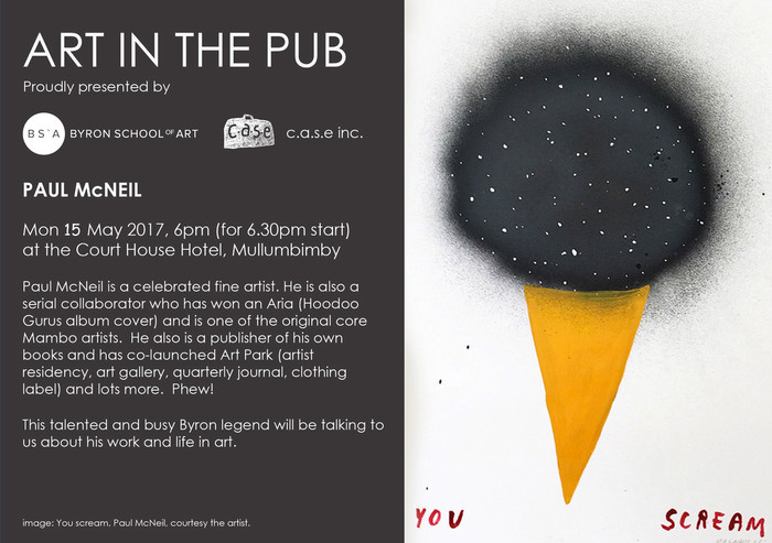 Art in the Pub - Paul McNeil Monday 15th May 6pm for a 6.30pm Start