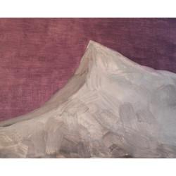 gouache on panel Ice Mountain Angus Mc Donald 2014