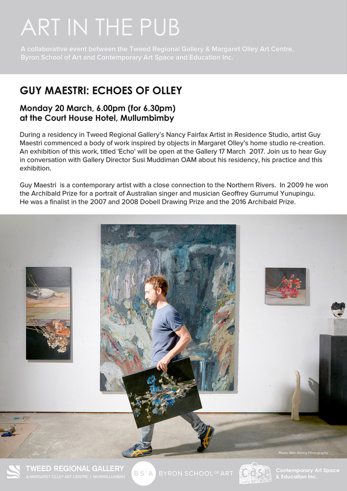 Art in the Pub - Guy Maestri Monday 20th March 2017. 6 pm for a 6.30 pm start.