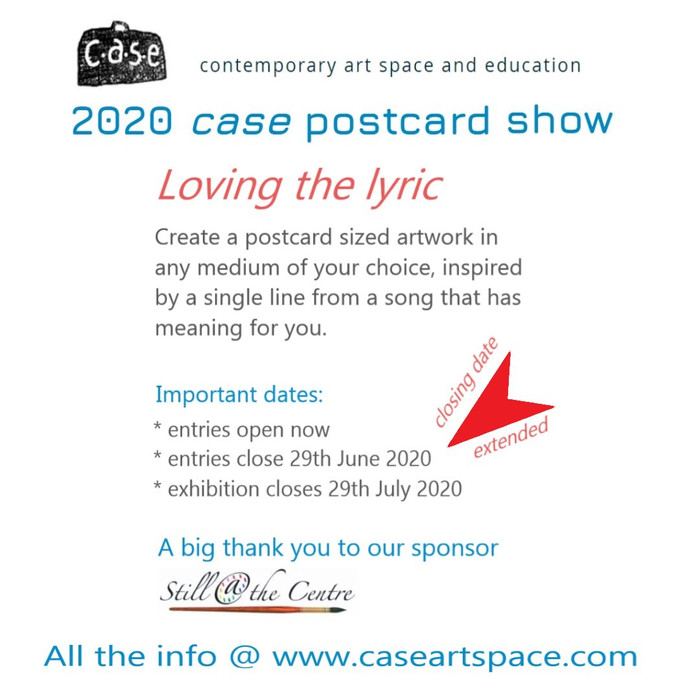 Closing date extended to 29th June for 2020 case postcard show