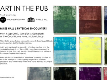 Art in the Pub - Miles Hall  Monday 4th September 6pm for a 6.30pm Start