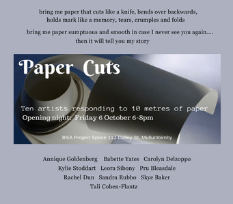 PAPER CUTS                                           Group Exhibition by c.a.s.e. Members