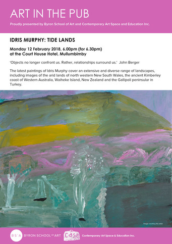 Art in the Pub - Idris Murphy Monday 12th February 2018. 6pm for a 6.30pm Start
