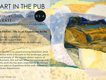 Art in The Pub -  Jo Bertini  - Sunday 22nd March 2015