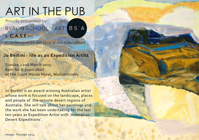Art in The Pub -  Jo Bertini  - Sunday 22nd March 2015