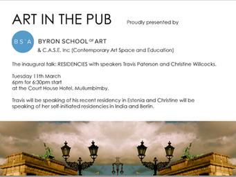 Art in The Pub - Christine Willcocks & Travis Paterson