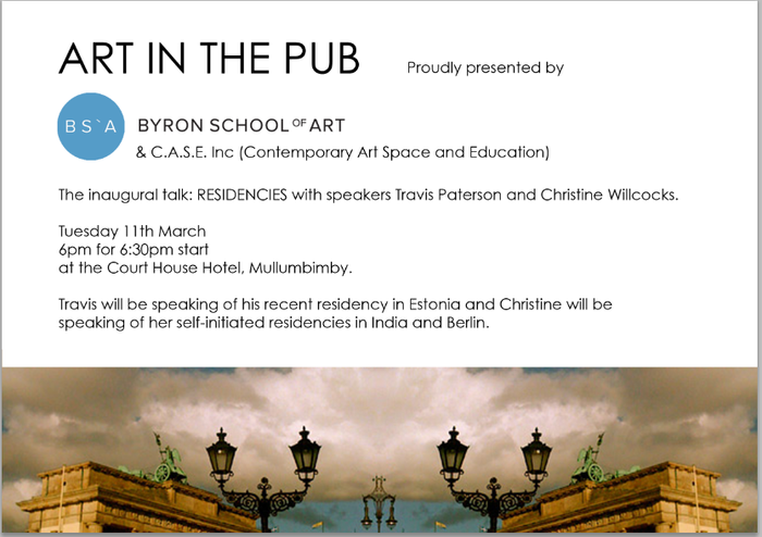 Art in The Pub - Christine Willcocks & Travis Paterson