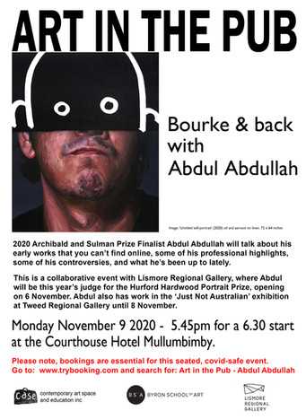 Art in the Pub - Abdul Abdullah Monday 9th November  2020