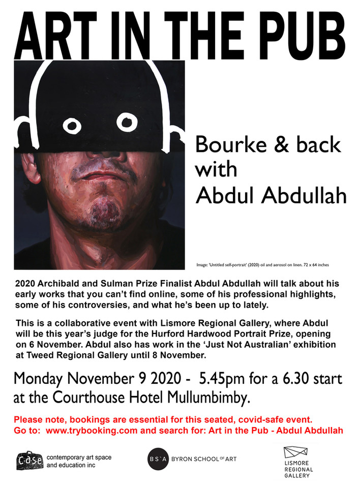Art in the Pub - Abdul Abdullah Monday 9th November  2020